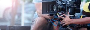 Cameraman at video shoot